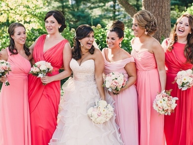 Ombre your Bridesmaids